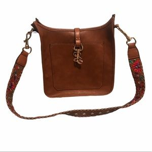 Steve Madden Crossbody with Embroidered Strap